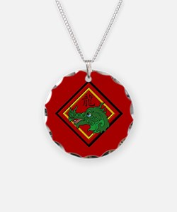 Dragon with Symbol Necklace