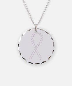 Orchid paw ribbon Necklace