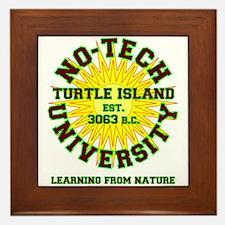 No-Tech University Framed Tile