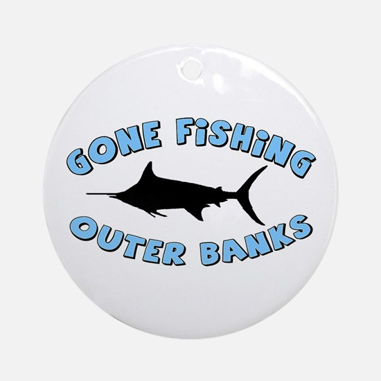 Gone Fishing - Outer Banks Ornament (Round)