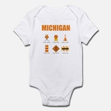 Michigan Symbols Infant Bodysuit