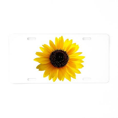 Golden sunflower Aluminum License Plate