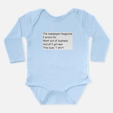Unemployed Journalists' Long Sleeve Infant Bodysui