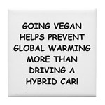 Going Vegan Tile Coaster
