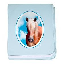 Palomino Pony baby blanket