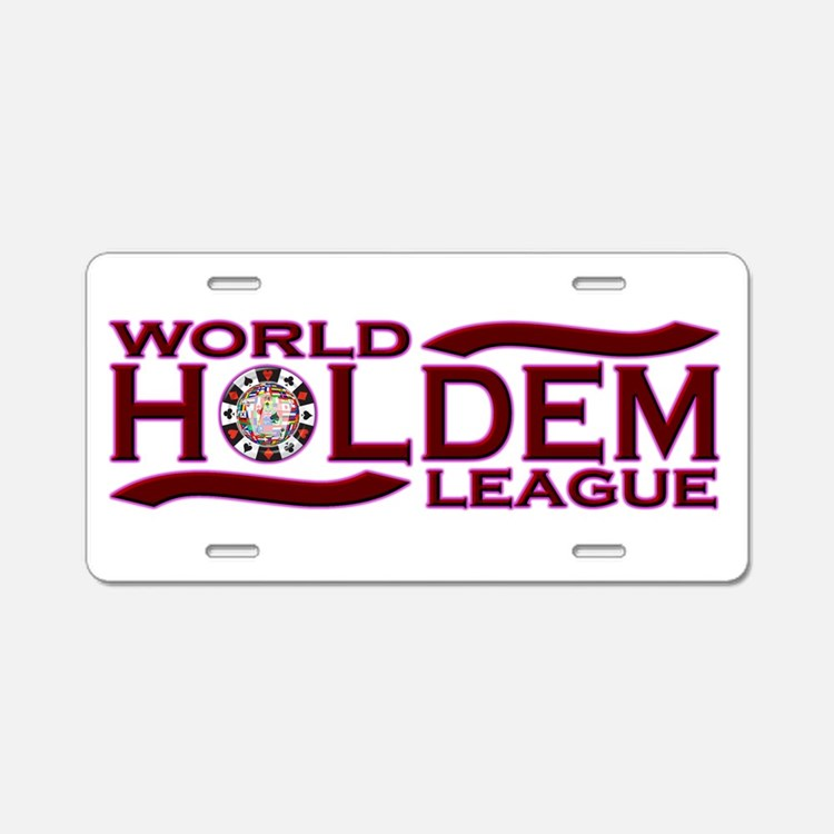 World Holdem Aluminum License Plate