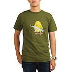 Gun Chick Organic Men's T-Shirt (dark)