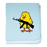 Gun Chick baby blanket