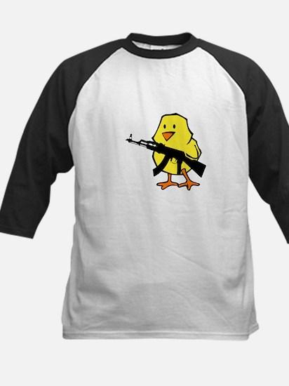 Gun Chick Kids Baseball Jersey