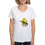 Gun Chick Women's V-Neck T-Shirt