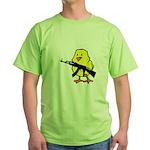 Gun Chick Green T-Shirt