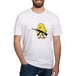 Gun Chick Fitted T-Shirt