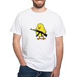 Gun Chick White T-Shirt