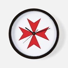 Maltese Cross Wall Clock