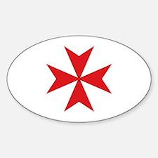 Maltese Cross Sticker (Oval)