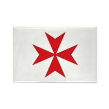 Maltese Cross Rectangle Magnet (10 pack)
