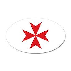 Maltese Cross 22x14 Oval Wall Peel