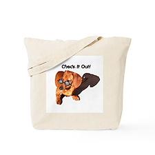 Check it Out Dauchshund Dog Tote Bag