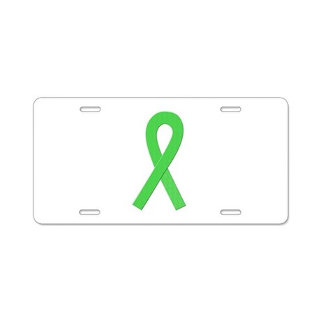 Lime Ribbon Aluminum License Plate