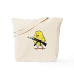 Vintage Gun Chick Tote Bag