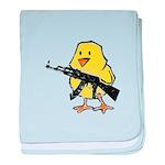 Vintage Gun Chick baby blanket