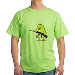 Vintage Gun Chick Green T-Shirt