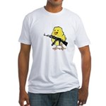 Vintage Gun Chick Fitted T-Shirt