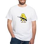 Vintage Gun Chick White T-Shirt