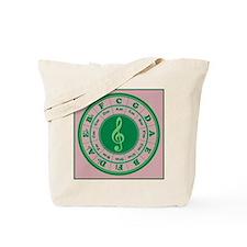 Green Circle of Fifths Tote Bag