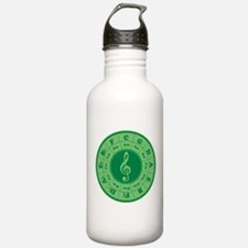 Green Circle of Fifths Water Bottle