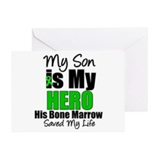 Son Hero Saved My Life Greeting Card