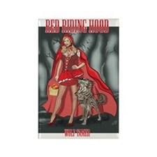Red Riding Hood Wolf Tamer Rectangle Magnet