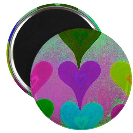 Touching Hearts Blue Magnet