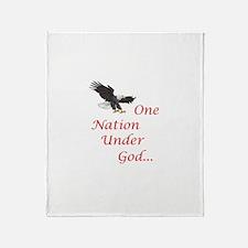 One Nation Under God Throw Blanket