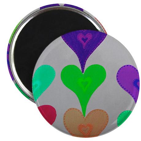 Touching Hearts Light Green Magnet