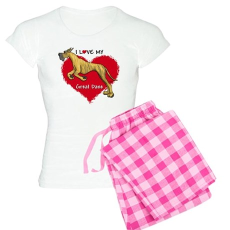 Love Brindle Dane Women's Light Pajamas