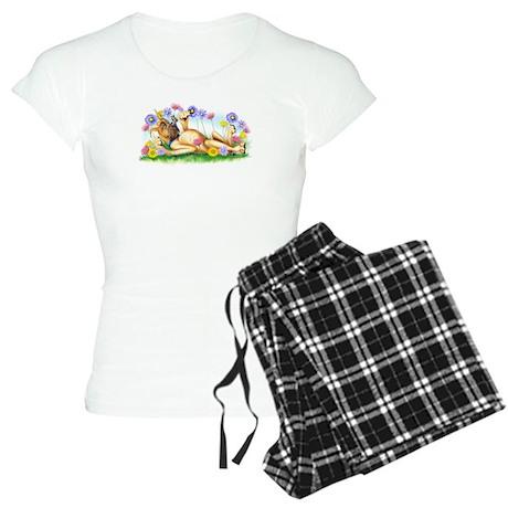 Great Dane Chasing Butterfly Women's Light Pajamas