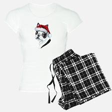 Boston Terrier Santa Pajamas