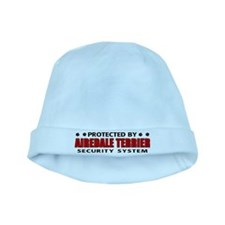 Airedale Terrier Security Sys baby hat