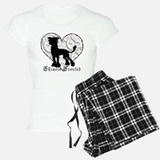 Chinese Crested Heart BW Pajamas
