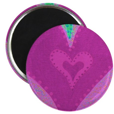 Touching Hearts Pink Magnet