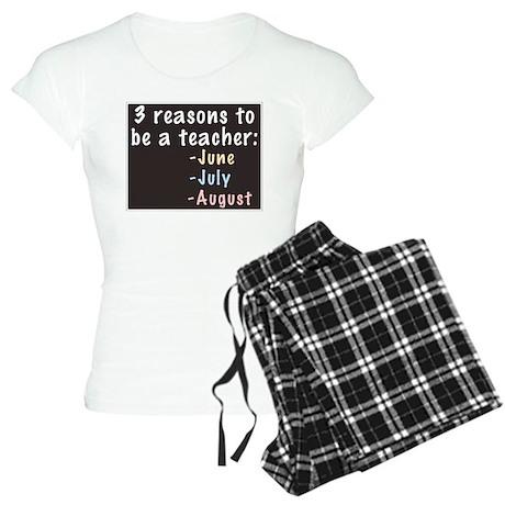 Reasons to be a Teacher Women's Light Pajamas