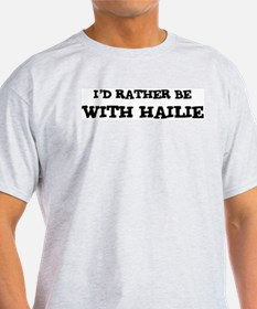 With Hailie Ash Grey T-Shirt