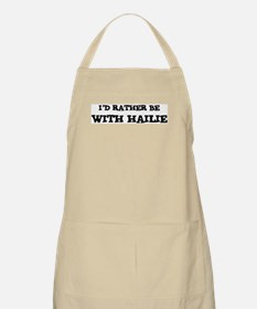 With Hailie BBQ Apron