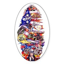 American Wars Oval Decal