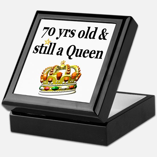 HAPPY 70TH BIRTHDAY Keepsake Box