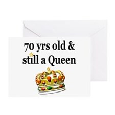 HAPPY 70TH BIRTHDAY Greeting Cards (Pk of 10)