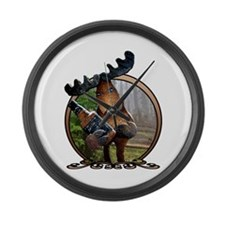 Party Moose Large Wall Clock