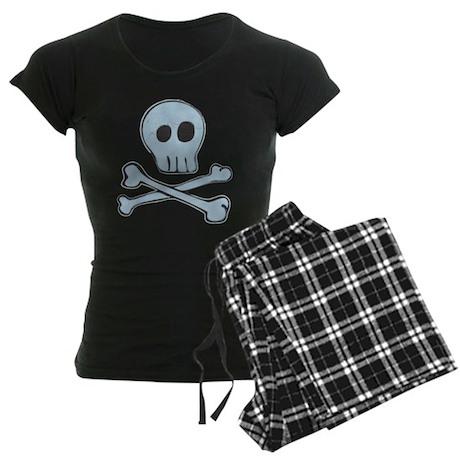 Girly Vintage Pirate Skull Women's Dark Pajamas
