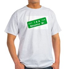 Exit 14A - Bayonne Bridge Ash Grey T-Shirt